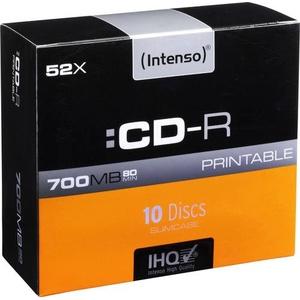 Intenso 1801622 CD-R 80 Rohling 700 MB 10 St. Slimcase Bedruckbar
