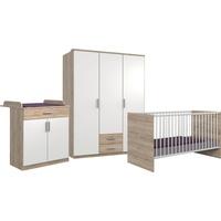 WIMEX Babyzimmer-Komplettset Kiel, (3-St), Bett + Wickelkommode + 3-trg. Schrank