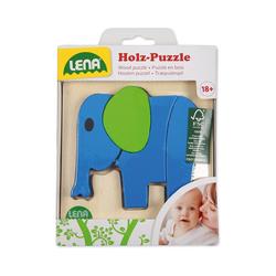 Lena® Steckpuzzle LENA® Holz-Steckpuzzle Tiere, 4er-Set, Puzzleteile