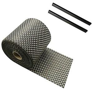 Zaun Sichtschutzstreifen PVC Rattan für Stabmattenzaun Einzeln 19 cm x 2,5 m inklusive 2 Befestigungsclips (Braun)