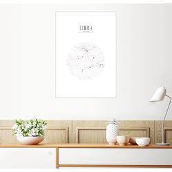 Posterlounge Wandbild, LIBRA, WAAGE 60 cm x 80 cm