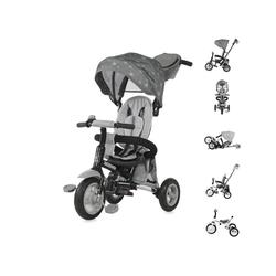 Lorelli Dreirad Dreirad Moovo, Luftreifen faltbar verstellbarer Sitz Schubstange Klingel grau