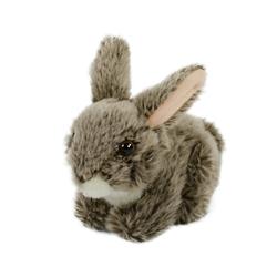 Teddys Rothenburg Kuscheltier Hase grau 18 cm Kaninchen (Häschen Plüschhase Stoffhase, Hasen Plüschtiere Babyhase Stofftiere)