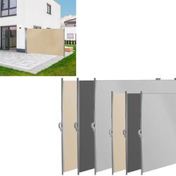 Seitenmarkise Seitenrollo Sichtschutz Windschutz Sichtschutz Auswahl Farbe Größe, Farbe / Größe: 180 x 300 cm Beige