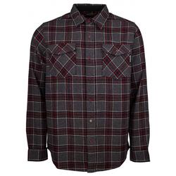 Hemd INDEPENDENT - Hatchet Button Up L/S Shirt Oxblood Plaid (OXBLOOD PLAID)