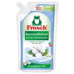 Frosch Sensitiv-Weichspüler, Textilerfrischer auf pflanzlicher Basis, Baumwollblüten - 1000 ml - Beutel