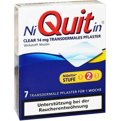 NIQUITIN Clear 14 mg transdermale Pflaster 7 St.