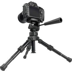 Kaiser Fototechnik Kamera-Tischstativ DSLR Tischstativ 1/4 Zoll Arbeitshöhe=18 - 30cm Schwarz inkl.
