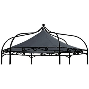 freigarten.de Ersatzdach für Pavillon Modena 6-eck 320cm Wasserdicht Material: Panama PCV Soft 370g/m2 extra stark Modell 8 (Anthrazit)