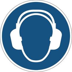 Durable 172906 Symbol -Gehörschutz benutzen- Blau 1 St. (Ø x H) 430mm x 0.4mm