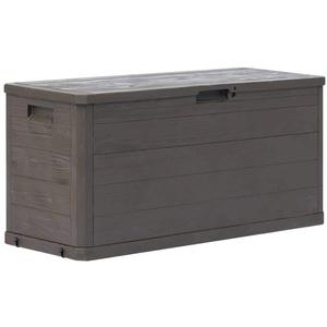 Festnight- Garten Aufbewahrungsbox Gartenbox Garten Truhe Tischtruhe Kissenbox Gartentruhe Gerätebox für den Innen- und Außenbereich 280 L Braun/Hellgrau