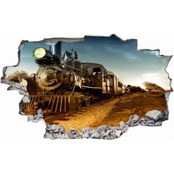 DesFoli Wandtattoo Dampflok Eisenbahn C2122 bunt 110 cm x 70 cm