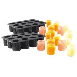 Silikon-Formen für 24 Schnapsgläser aus Eis, 2 cl