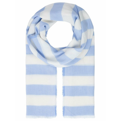 Apart Schal mit Streifen blau