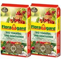 Floragard Bio Tomaten- und Gemüseerde 2 x 28 l