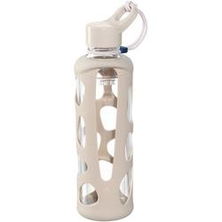LEONARDO Trinkflasche To go Flasche II IN GIRO, Glas/Silikon, 500 ml rosa