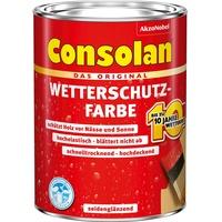 Consolan Wetterschutzfarbe dunkelbraun seidenglänzend 750 ml,