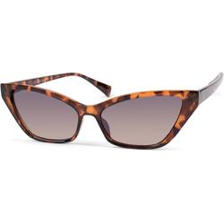 styleBREAKER Sonnenbrille Schmale Retro Cateye Sonnenbrille Getönt braun
