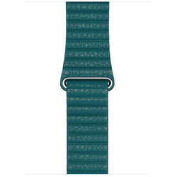 Apple Leather Loop Lederarmband Peacock