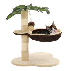 vidaXL Kratzbaum vidaXL Katzen-Kratzbaum mit Sisal-Kratzstange 50 cm Beige und Braun