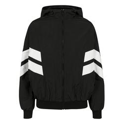 Urban Classics Damen Jacke schwarz / weiß