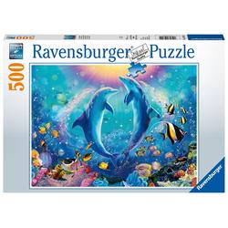 Ravensburger Puzzle 14811 Tanzende Delphine 500 Teile Puzzle, 500 Puzzleteile