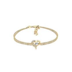 Elli Armband Herz Liebe Kristalle 925 Silber, Herz