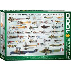 empireposter Puzzle Historische Flugzeuge des 1. Weltkriegs - 1000 Teile Puzzle im Format 68x48 cm, 1000 Puzzleteile