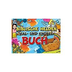 Biblische Helden Mal- und Knobel-Buch - Buch
