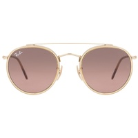 Ray Ban Round Double Bridge RB3614N 9124/43 51-22 gold/brown gradient