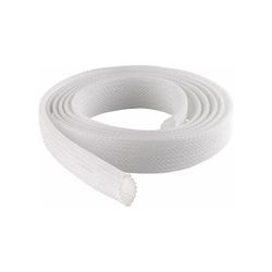 Schwaiger Schrumpfschlauch Schwaiger Gewebekabelschlauch Ø 20 mm perfekt zum Bündeln von Kabeln Kabelschlauch Kabelkanal Gewebeschlauch Kabelbündel Weiß