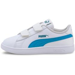PUMA Smash Sneaker Kinder in puma white-dresden blue, Größe 33 puma white-dresden blue 33