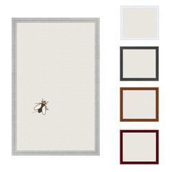 Insektenschutz Spannrahmen, Fliegengitter für Fenster, fertig auf Mass, als Bausatz, in silber