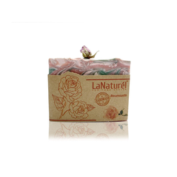 LaNaturel Seife 100% Handmade 110g Rosenseife Naturseife mit Rosenöl für raue & trockene Haut, Hände, Körper, Gesicht, 1-tlg.