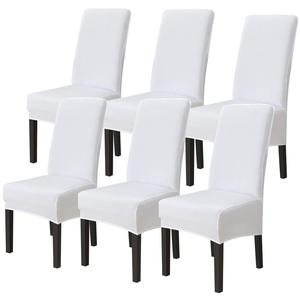ChicSoleil Stuhlhussen Esszimmerstühle Hussen Stuhlbezug Spannbezug elastisch Strech Stuhlabdeckung für Esszimmer Hochzeitsbankett Party Dekoration