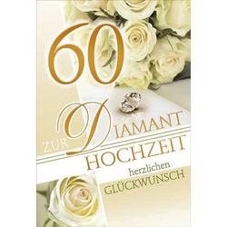 73 201700   Bild Diamantene Hochzeitskarte