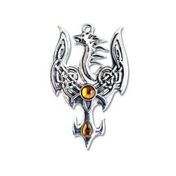 Adelia´s Amulett Mythische Kelten Talisman, Avalonischer Phoenix - Für erfolgreiche Übergänge
