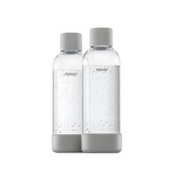 MySoda 1L Flasche 2er-Pack grau