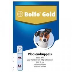 Bolfo Gold 100 hond vlooiendruppels  4 pipetten