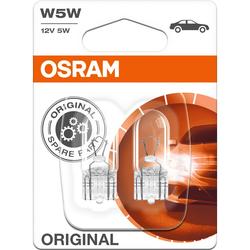 Osram Original Leuchtmittelpaar 12V, 5W Glassockel W2.1x9.5d