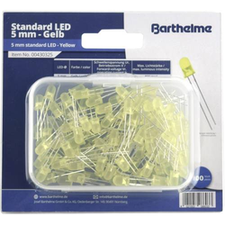 Barthelme LED-Sortiment Gelb Rund 5mm 800 mcd 35° 30mA 2V