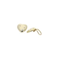 JuwelmaLux Paar Ohrclips Ohrclips Gold Herz mit Zirkonia (2-tlg), Damen Ohrclips Gold 333/000, inkl. Schmuckschachtel