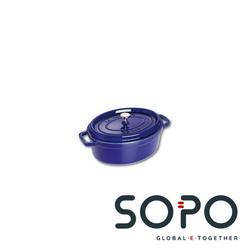 Staub Cocotte, oval, 29cm, blau, La Cocotte