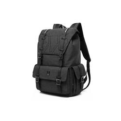 PEAK TIME Tagesrucksack PT-301, stylischer urbaner Rucksack mit Zierschnallen schwarz