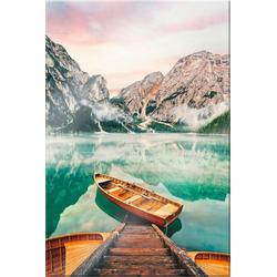 Wall-Art Acrylglasbild Lago die Braies, 70/100 cm