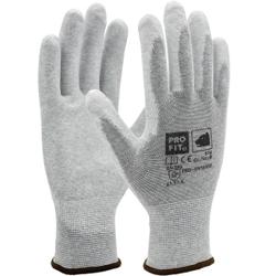 Fitzner ESD PU-Handschuh, Atmungsaktive Handschuhe geeignet für die Mikroelektronik, 1 Karton = 144 Paar, Größe: 9