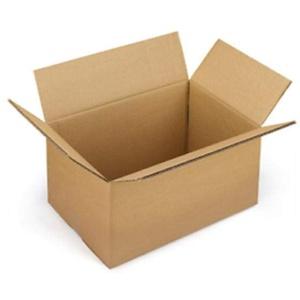 10 Kartonschachteln, 40 x 30 x 30 cm – Verpackungen aus Karton, einwellig für Versand / Lager / Transport/ Umzüge, schwarz