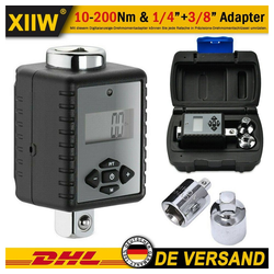 XIIW Drehmomentschlüssel Digitaler Drehmoment Adapter Aufsatz Drehmomentschlüssel Ratsche Knarre 10-200nm Nuss 1/4+3/8
