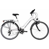 KS Cycling Trekkingrad Metropolis, 21 Gang Shimano Tourney Schaltwerk, Kettenschaltung weiß 28 Zoll (71,12 cm)