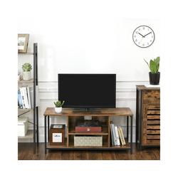 VASAGLE Lowboard LTV39BX, TV-Lowboard mit offenen Fächern, 110 x 40 x 50 cm, vintage